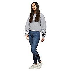 Miss Selfridge - Blue lace side lizzie jeans