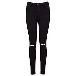 Miss Selfridge - Regular black razor knee jean