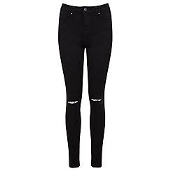 Miss Selfridge - Regular black razor knee jean