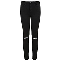 Miss Selfridge - Black razor knee jean
