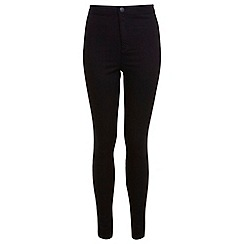 Miss Selfridge - Black super high waist jeans
