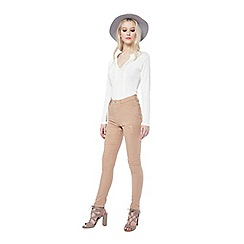 Miss Selfridge - Lizzie nude distressed jean