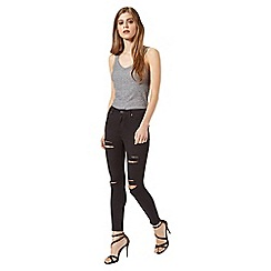 Miss Selfridge - Lizzie black distressed jean