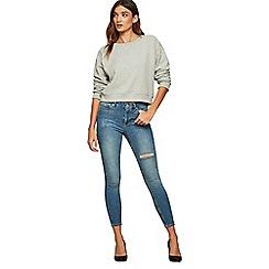 Miss Selfridge - Blue cast aloe lizzie jeans