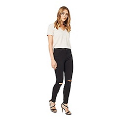 Miss Selfridge - Lizzie black rip knee jean