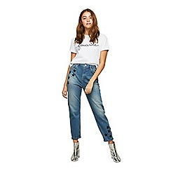 Miss Selfridge - Black star mom jeans