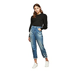 Miss Selfridge - Silver star mom jeans