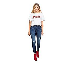 Miss Selfridge - Vera double ripped lizzie jeans