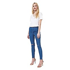 Miss Selfridge - Steffi pretty blue rip knee jean