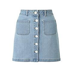Miss Selfridge - Bleach denim skirt