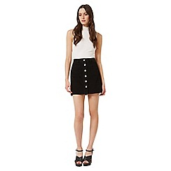 Miss Selfridge - Black patch pocket skirt