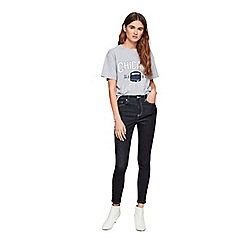 Miss Selfridge - Indigo stitch lizzie jeans