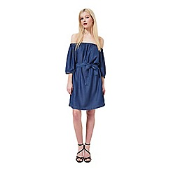 Miss Selfridge - Bardot belted denim dress