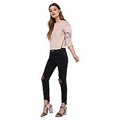 Miss Selfridge - Black lizzie black step hem jeans