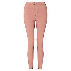 Miss Selfridge - Steffi pink zip hem jean