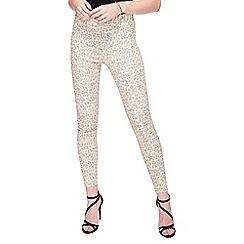 Miss Selfridge - Steffi pink leopard jean