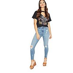 Miss Selfridge - Authentic bust knee lizzi jeans