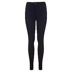 Miss Selfridge - Long black super high waist jean