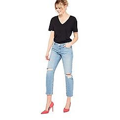 Miss Selfridge - Knee rip slim boyfriend jeans