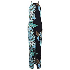 Miss Selfridge - Large floral 90's neck maxi