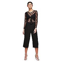 Miss Selfridge - Lace black mix jumpsuit