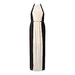 Miss Selfridge - Colourblock pleated maxi dress