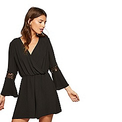 Miss Selfridge - Black lace playsuit
