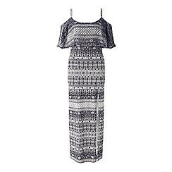 Miss Selfridge - Printed frill layer maxi dress