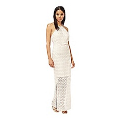 Miss Selfridge - Zig zag lurex maxi