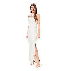 Miss Selfridge - Cream caged maxi bodycon dress