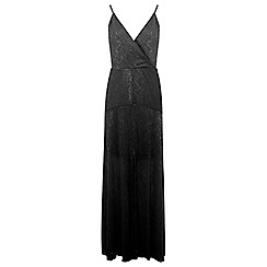 Miss Selfridge - Wrap pleated maxi dress