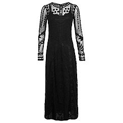 Miss Selfridge - Black embroidered maxi dress