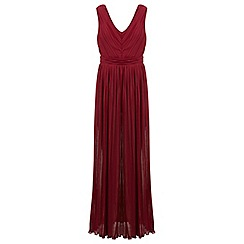 Miss Selfridge - Cutout pleated maxi dress