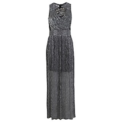 Miss Selfridge - Lace plisse maxi dress