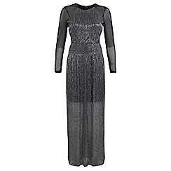 Miss Selfridge - Mesh plisse maxi dress