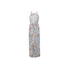Miss Selfridge - Printed pleat maxi dress