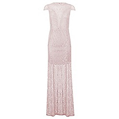 Miss Selfridge - Lilac lurex lace maxi dress