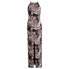 Miss Selfridge - Paisley 90's neck maxi dress