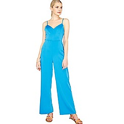 Miss Selfridge - Blue wide leg jumpsuit