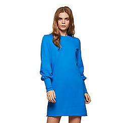 Miss Selfridge - Blue deep cuff sweat dress