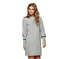 Miss Selfridge - Grey deep cuff sweat dress