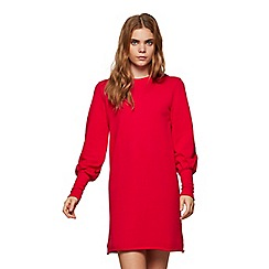 Miss Selfridge - Red deep cuff sweat dress