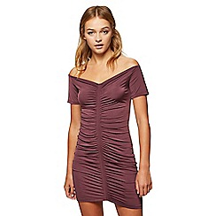 Miss Selfridge - Ruched bardot dress