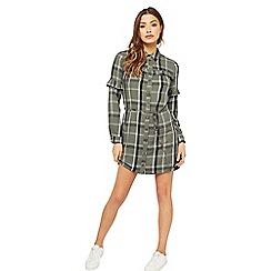 Miss Selfridge - Check shirt dress