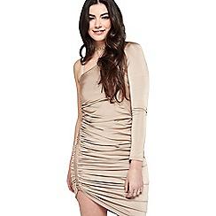 Miss Selfridge - Mink slinky 1 shoulder dress
