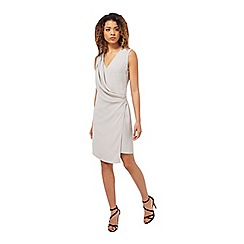 Miss Selfridge - Grey drape front dress