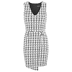 Miss Selfridge - Checked wrap d-ring dress