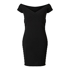 Miss Selfridge - Black bardort bodycon dress