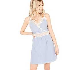 Miss Selfridge - Stripe lace sun dress