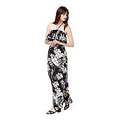 Miss Selfridge - Tropical ruffle halter dress